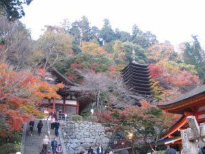 談山神社 権殿と十三重塔